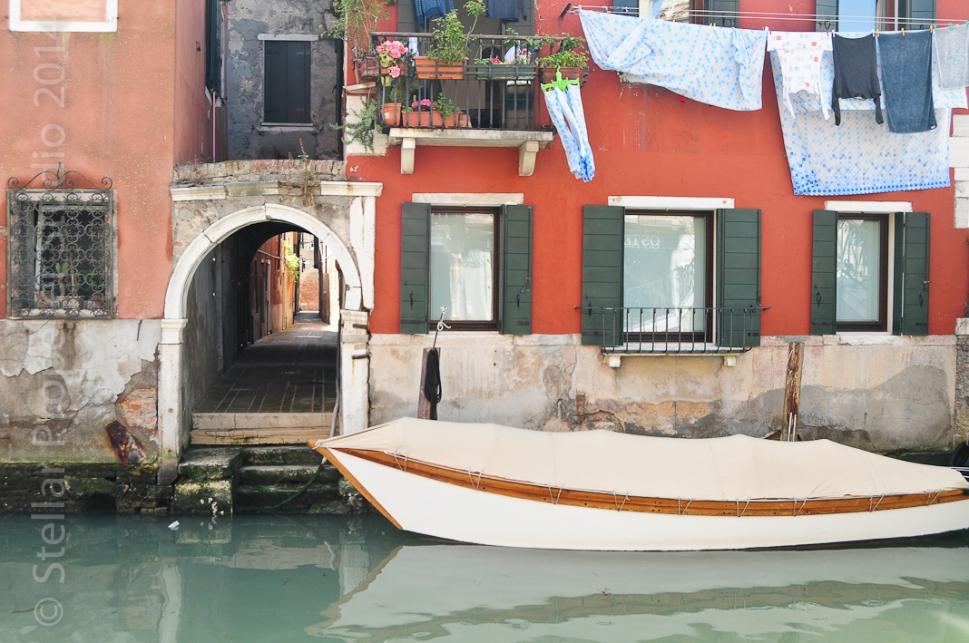 Venice Italy boat and laundry
